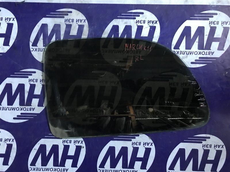 Стекло собачника Nissan March K11 CGA3 2000 заднее левое (б/у)