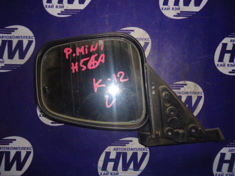 Зеркало Mitsubishi Pajero Mini H56A 4A30 1997 левое (б/у)