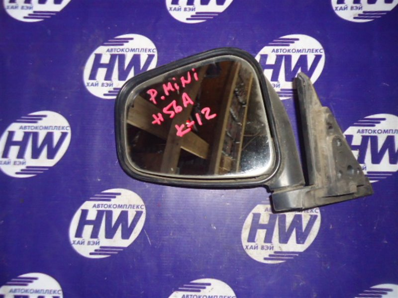 Зеркало Mitsubishi Pajero Mini H56A левое (б/у)