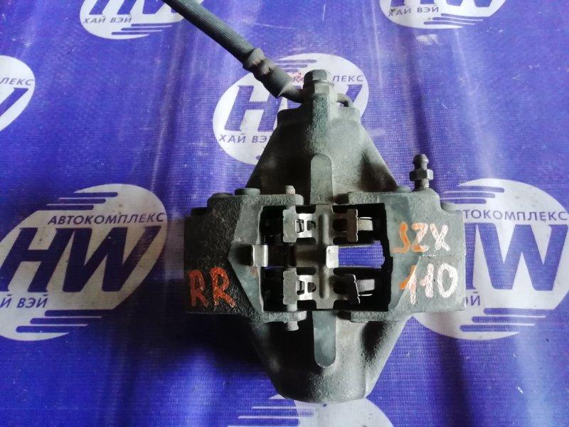 Суппорт Toyota Mark Ii JZX110 1JZ задний правый (б/у)