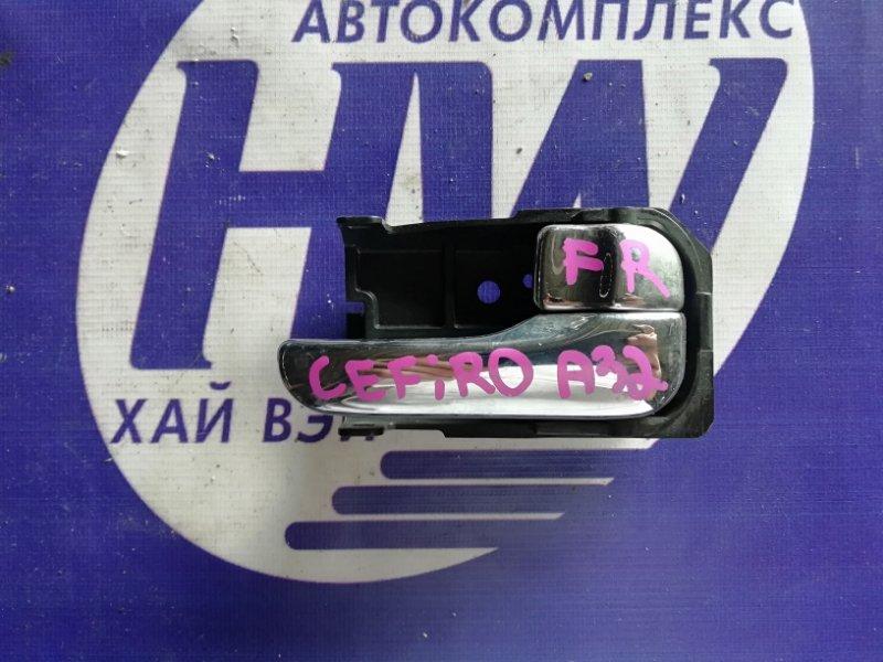 Ручка двери внутренняя Nissan Cefiro A32 VQ20 передняя правая (б/у)