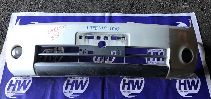 Бампер Nissan Lafesta B30 MR20 передний (б/у)