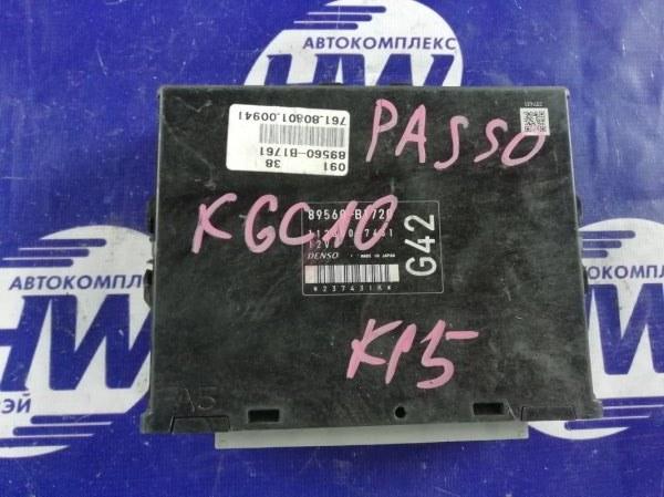 Компьютер двс Toyota Passo KGC10 1KR (б/у)