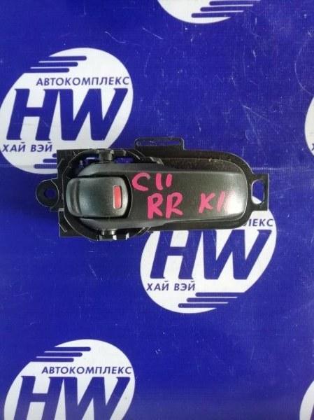 Ручка двери внутреняя Nissan Tiida C11 HR15 задняя правая (б/у)