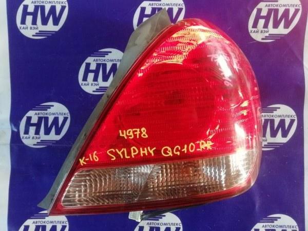 Стоп Nissan Bluebird Sylphy QG10 QG18 2004 правый (б/у)