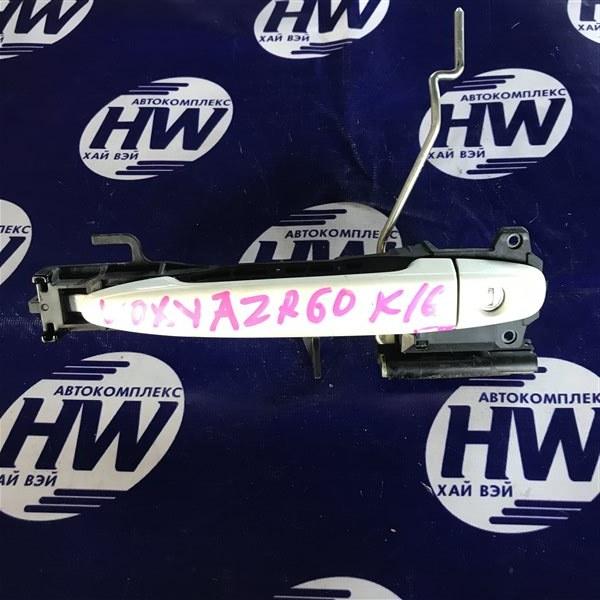 Ручка двери внешняя Toyota Voxy AZR60 1AZ передняя правая (б/у)