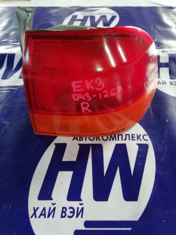 Стоп Honda Civic Ferio EK3 D15B правый (б/у)