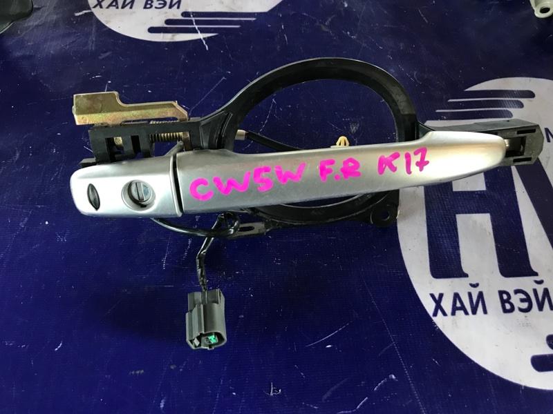 Ручка двери внешняя Mitsubishi Outlander CW5W 4B12 передняя правая (б/у)