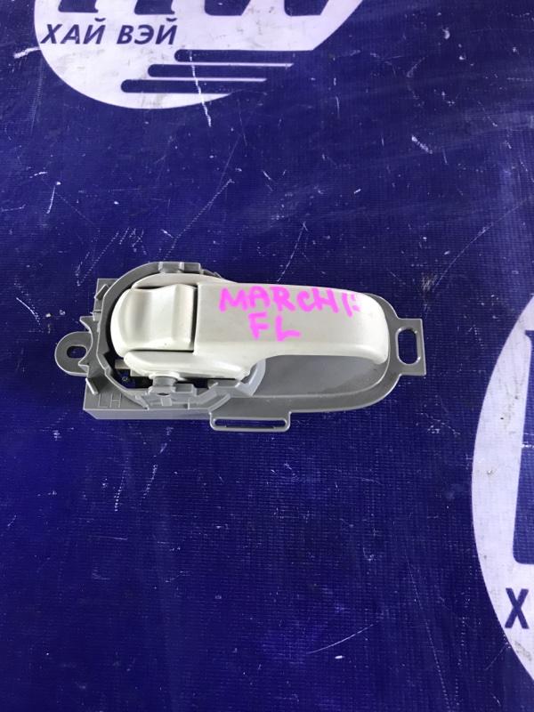 Ручка двери внутренняя Nissan March AK12 CR12 передняя левая (б/у)