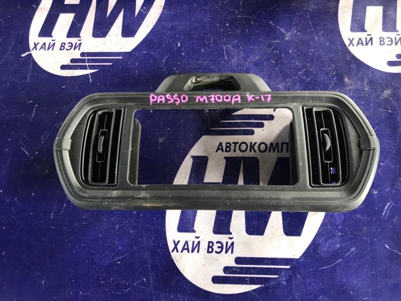 Консоль магнитофона Toyota Passo M700A 1KR (б/у)