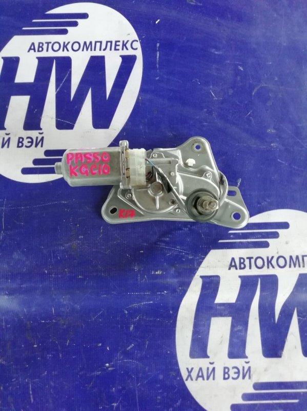 Моторчик заднего дворника Toyota Passo KGC10 1KR (б/у)