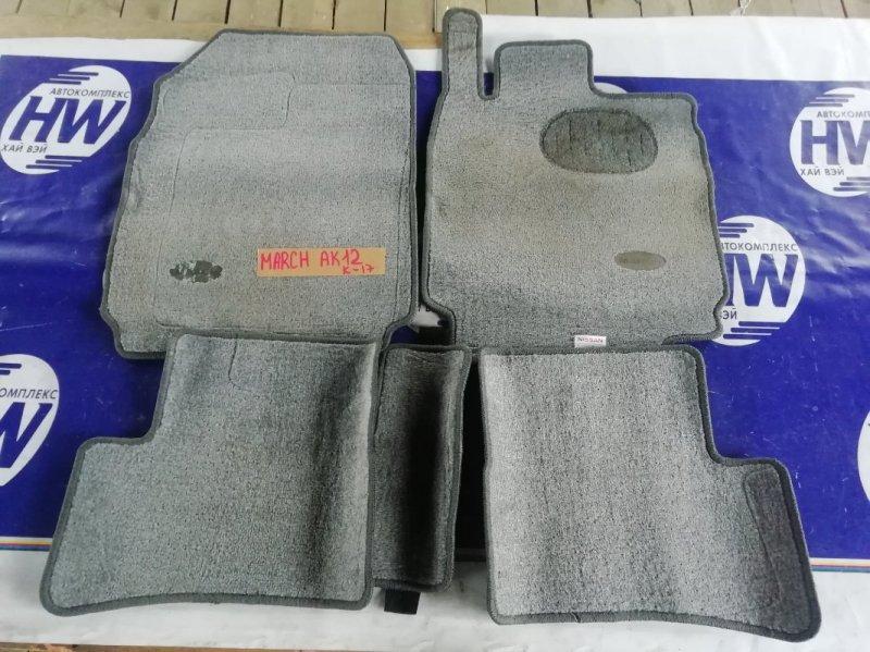 Коврики комплект Nissan March AK12 CR12 (б/у)