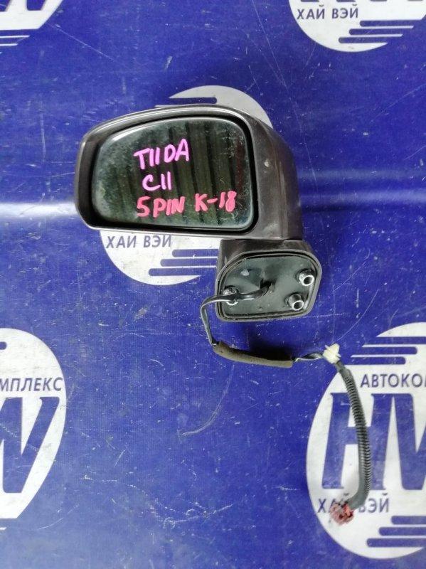 Зеркало Nissan Tiida C11 HR15 левое (б/у)