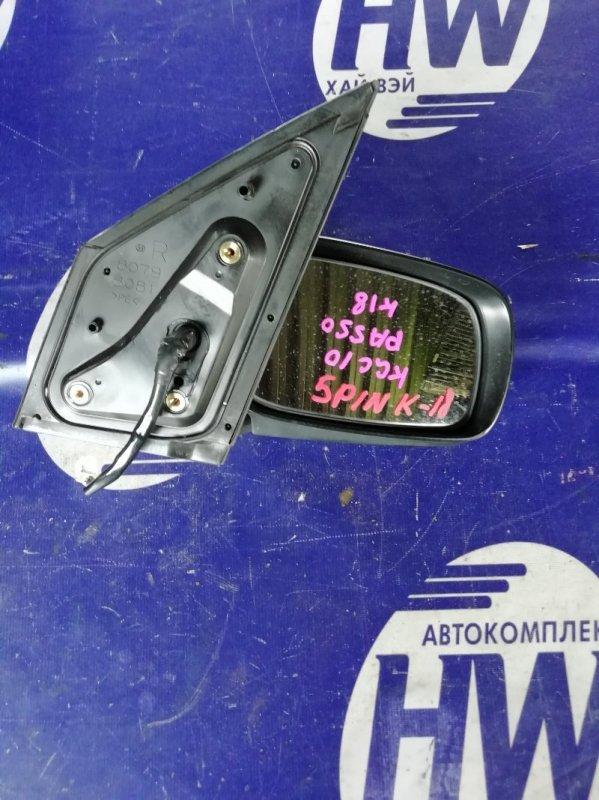 Зеркало Toyota Passo KGC10 1KR правое (б/у)