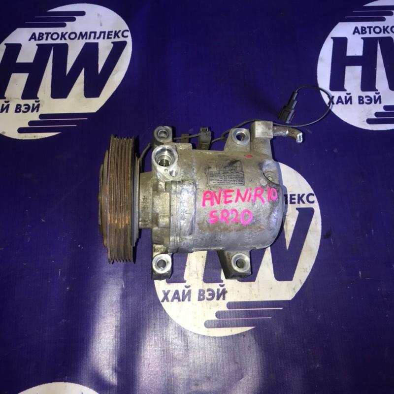 Компрессор кондиционера Nissan Avenir PW10 SR20 (б/у)