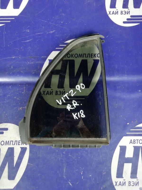 Форточка двери Toyota Vitz KSP90 1KR задняя правая (б/у)