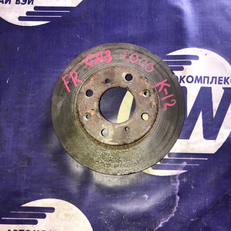 Диск тормозной Honda Logo GA3 передний (б/у)
