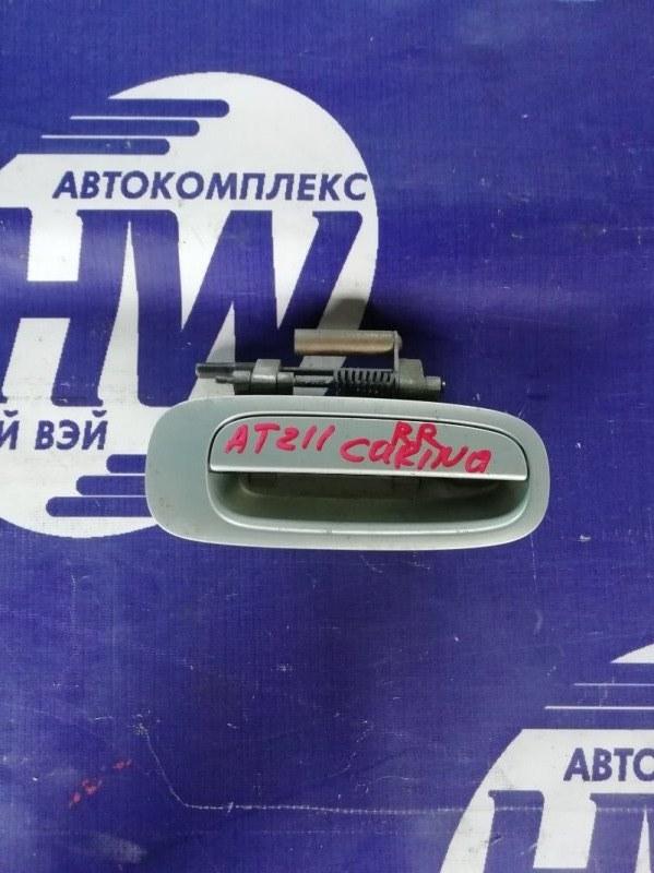 Ручка двери внешняя Toyota Carina AT211 7A 2000 задняя правая (б/у)