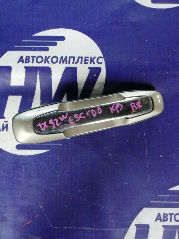 Ручка двери внешняя Suzuki Grand Escudo TX92W H27A 2001 задняя правая (б/у)