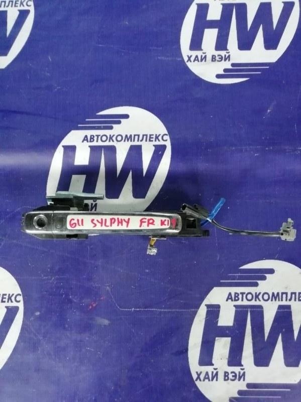 Ручка двери внешняя Nissan Bluebird Sylphy G11 HR15 2008 передняя правая (б/у)