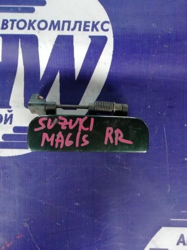 Ручка двери внешняя Suzuki Wagon R Wide MA61S K10AT задняя правая (б/у)