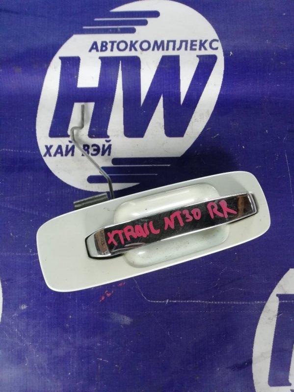 Ручка двери внешняя Nissan X-Trail NT30 QR20 2004 задняя правая (б/у)