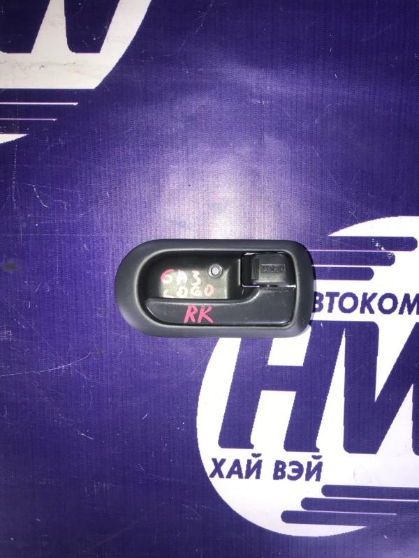 Ручка двери внутреняя Honda Logo GA3 D13B 2000 задняя правая (б/у)