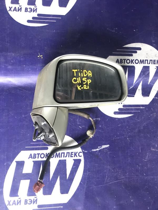 Зеркало Nissan Tiida C11 HR15 правое (б/у)