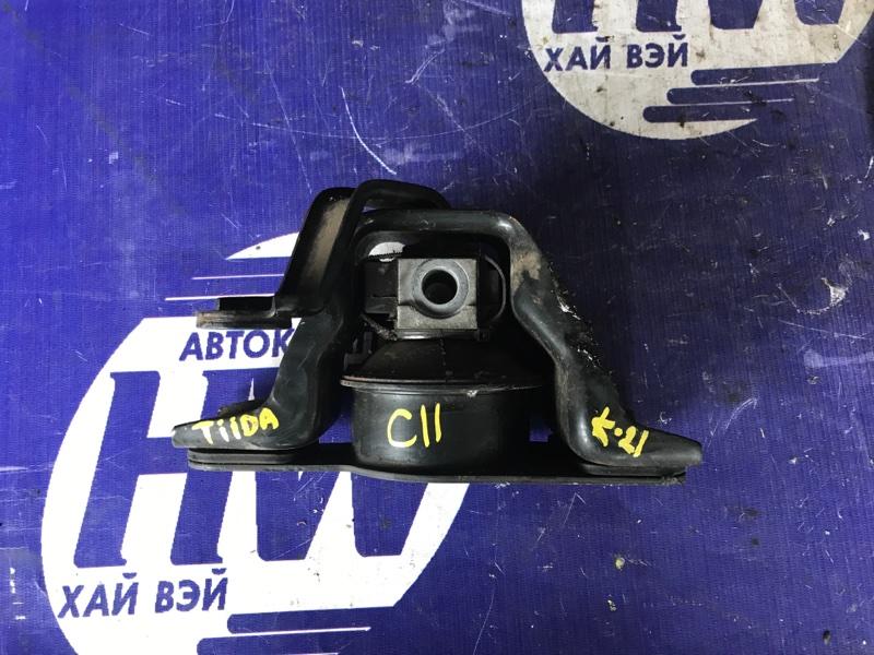 Подушка двс Nissan Tiida C11 HR15 (б/у)