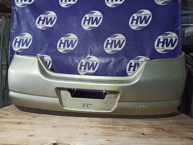 Бампер Nissan Tiida C11 HR15 задний (б/у)