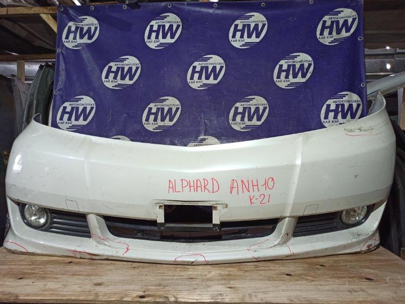 Бампер Toyota Alphard ANH10 2AZ передний (б/у)