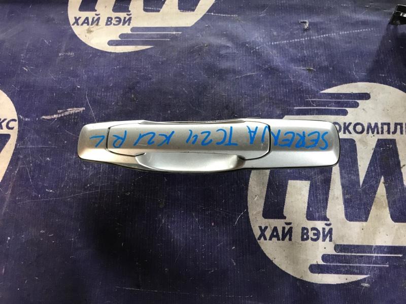 Ручка двери внешняя Nissan Serena TC24 QR20 задняя левая (б/у)