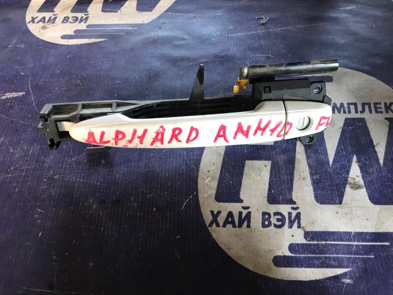 Ручка двери внешняя Toyota Alphard ANH10 2AZ передняя левая (б/у)