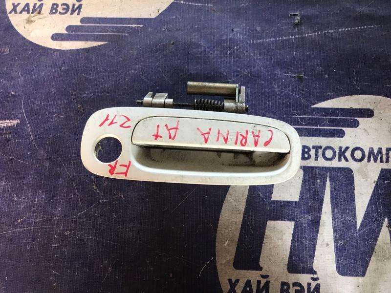 Ручка двери внешняя Toyota Carina AT211 7A 2000 передняя правая (б/у)