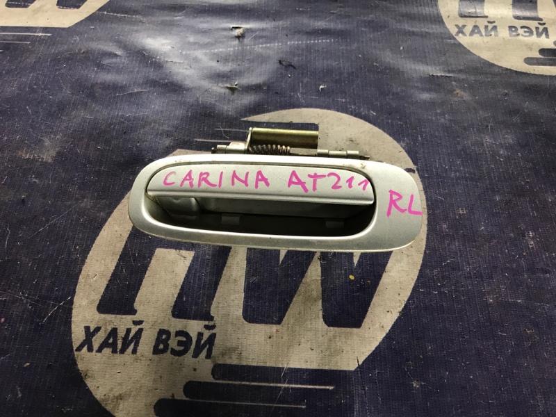 Ручка двери внешняя Toyota Carina AT211 7A 2000 задняя левая (б/у)