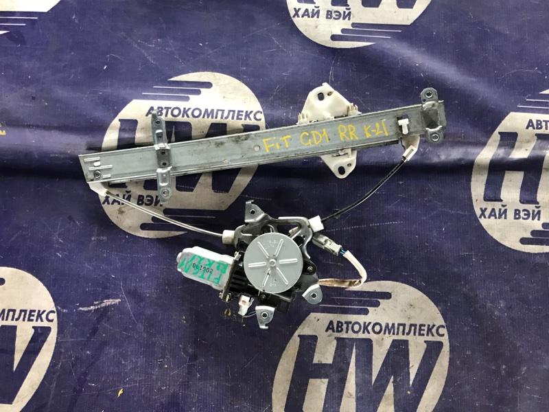 Стеклоподъемник Honda Fit GD3 L15A задний правый (б/у)