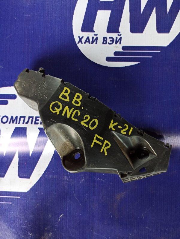 Крепление бампера Toyota Bb QNC20 K3VE переднее правое (б/у)