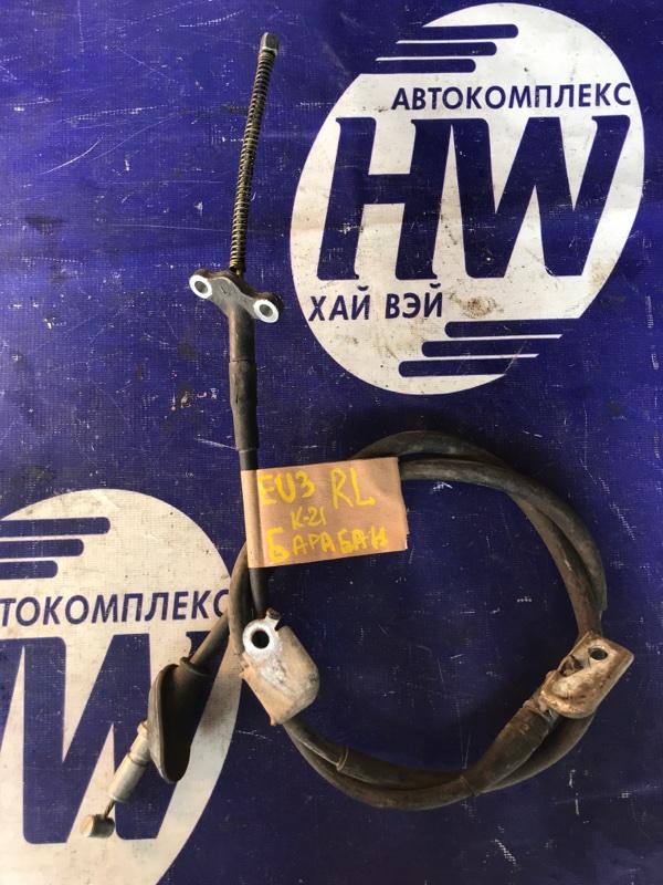 Трос ручника Honda Civic EU3 D17A левый (б/у)