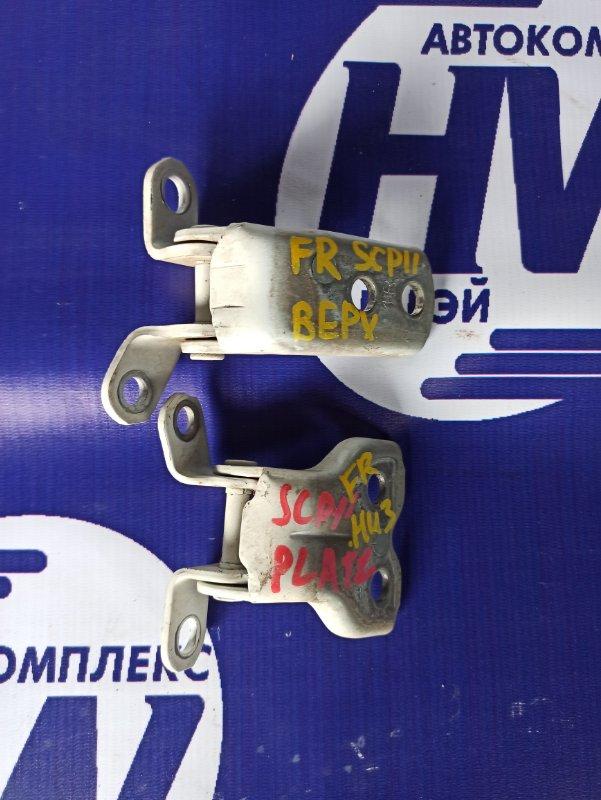 Петля дверная Toyota Platz SCP11 1SZ передняя правая (б/у)