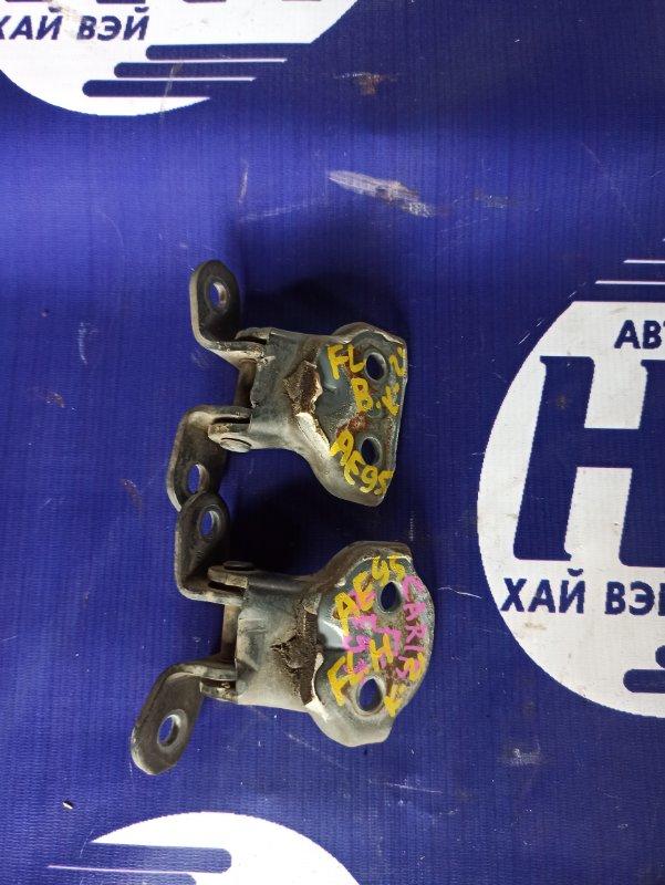 Петля дверная Toyota Sprinter Carib AE95 4AFHE 1995 передняя левая (б/у)
