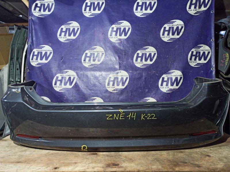 Бампер Toyota Wish ZNE14 1ZZ 2006 задний (б/у)