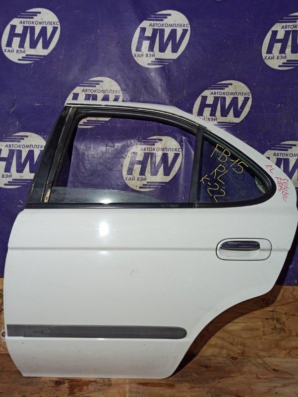 Дверь Nissan Sunny FB15 QG15 задняя левая (б/у)