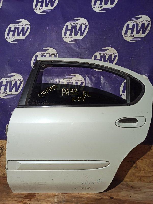 Дверь Nissan Cefiro A33 VQ25 задняя левая (б/у)