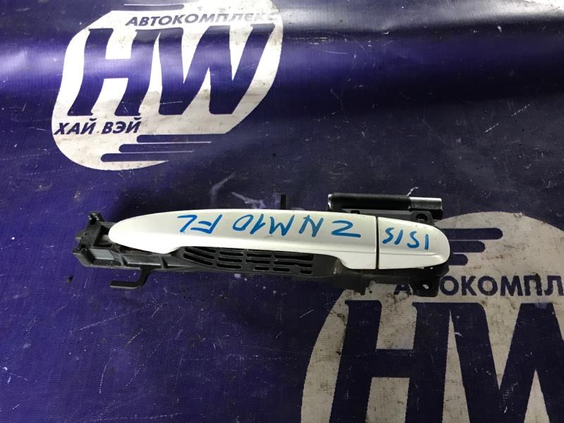Ручка двери внешняя Toyota Isis ZNM10 1ZZ передняя левая (б/у)