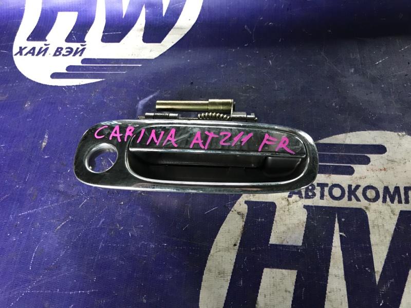 Ручка двери внешняя Toyota Corona Premio AT211 7A 2000 передняя правая (б/у)