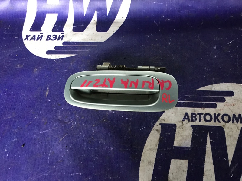 Ручка двери внешняя Toyota Carina AT211 7A 1997 задняя левая (б/у)