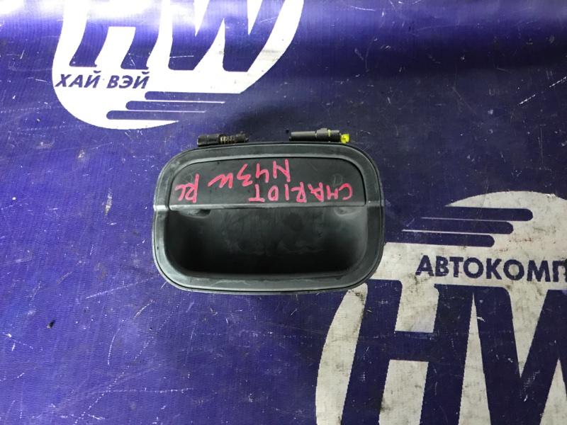 Ручка двери внешняя Mitsubishi Chariot N43W 4G63T задняя левая (б/у)