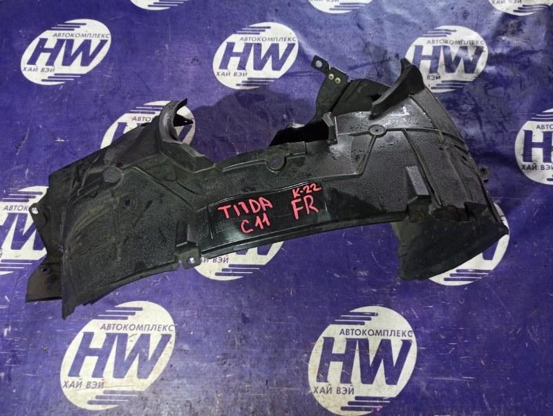 Подкрылок Nissan Tiida C11 HR15 передний правый (б/у)