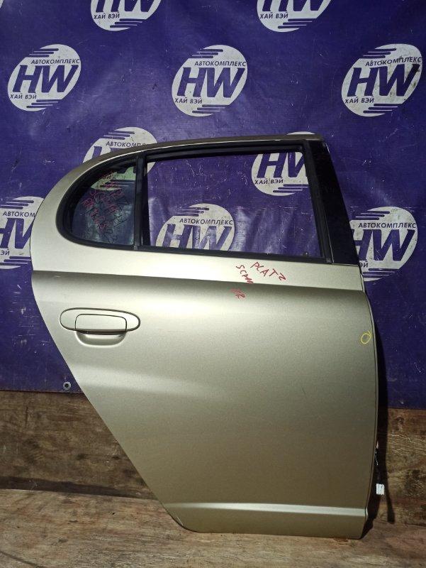 Дверь Toyota Platz SCP11 1SZ задняя правая (б/у)