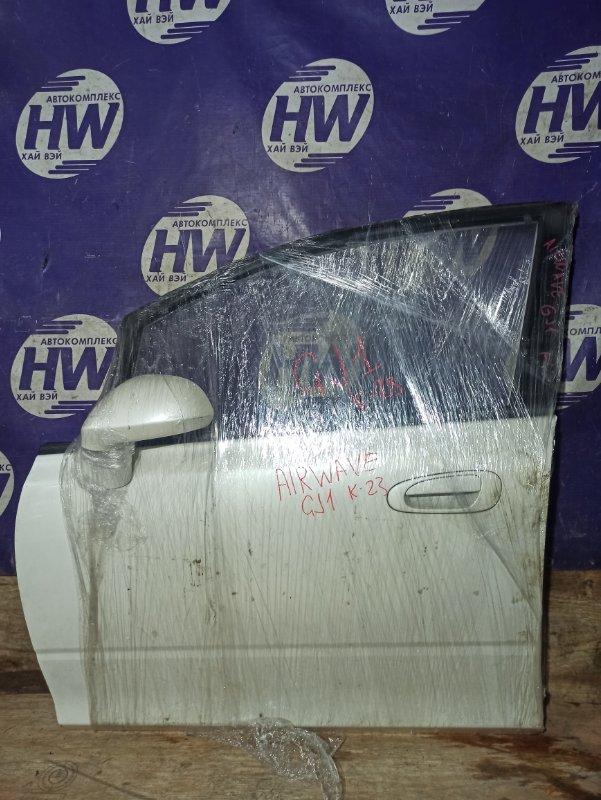 Дверь Honda Airwave GJ1 L15A передняя левая (б/у)